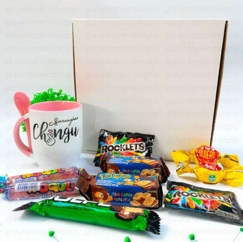 Combo amigos 2: taza con cuchara y dulces personalizable - 5