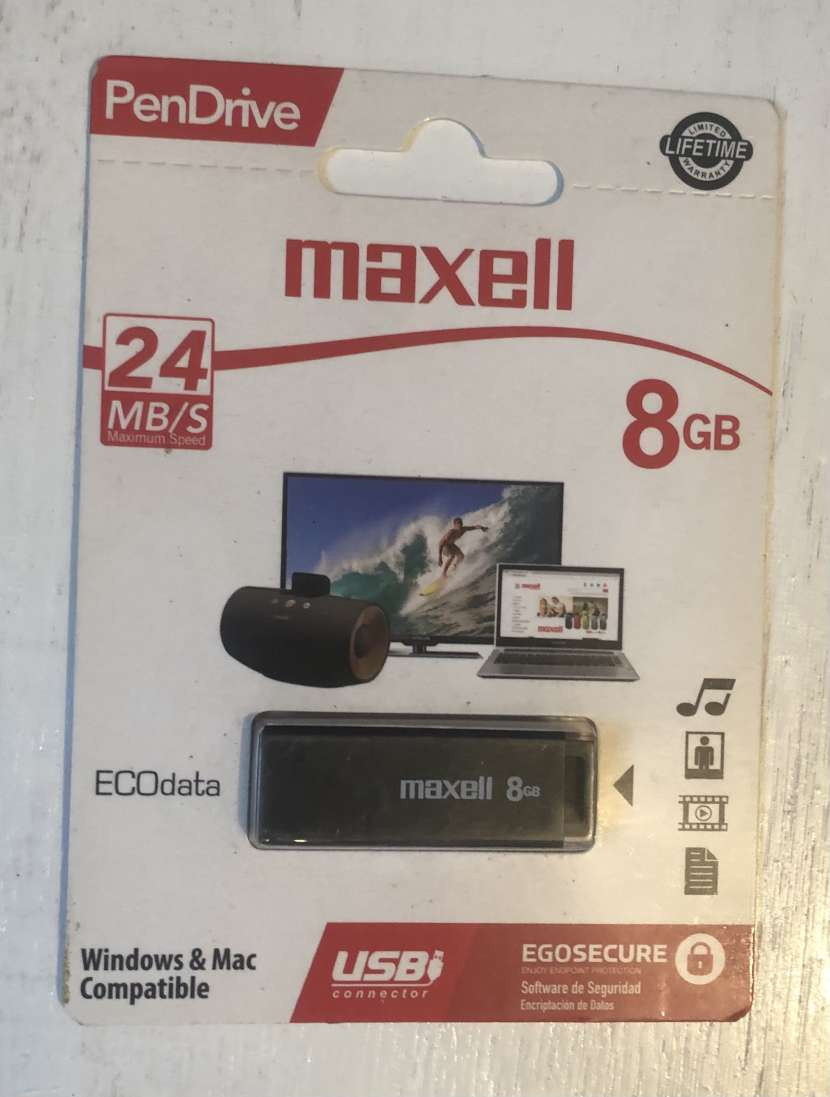 Pendrive Maxell 8 gb - 0