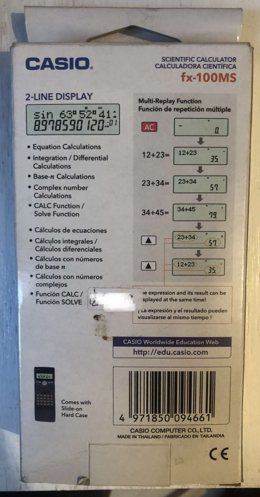 Calculadora Científica Casio FX-100MS - 1