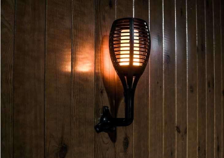 Baliza LED antorcha solar efecto llama realista Fire 2302 - 3