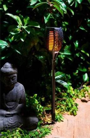 Baliza LED antorcha solar efecto llama realista Fire 2302