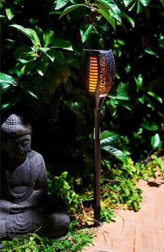 Baliza LED antorcha solar efecto llama realista Fire 2302 - 0