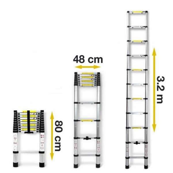 Escalera telescópica 3.20 metros Consumer (172) - 0