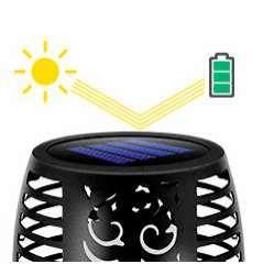 Baliza LED antorcha solar efecto llama realista Fire 2302 - 4