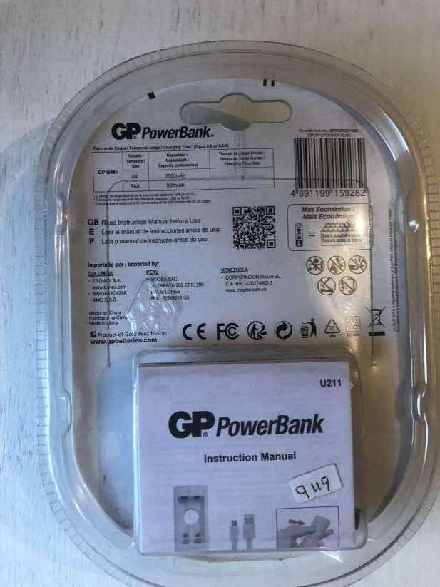 Pilas GP Powerbank con cargador incluido - 1