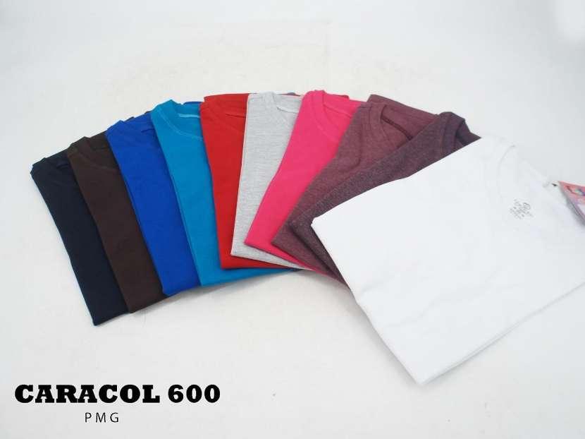 Caracol 600 remera deportiva de algodón talles P M G - 1