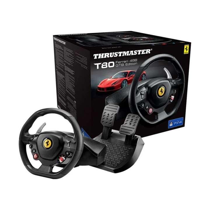 Volante + Pedal Thrustmaster T80 Ferrari 488 GTB Edition - 0