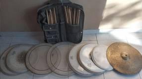 Set de parches de batería y accesorios