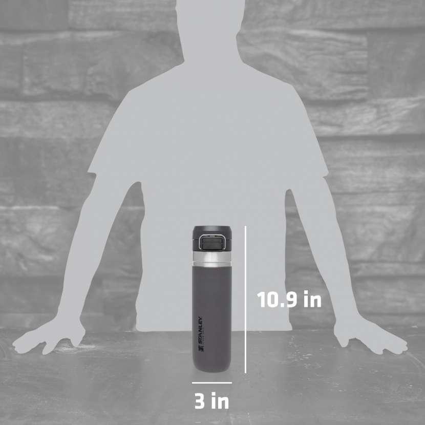 Botella Stanley Quick Flip Go 0.7L - Carbón - 1