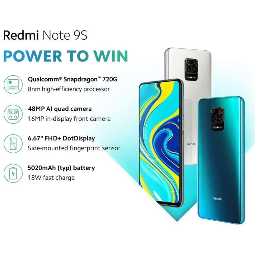 Xiaomi - Redmi Note 9S Aurora Blue 4GB RAM 128GB ROM - 0