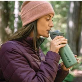 Botella Stanley IceFlow Flip Straw 0.65L - Áloe