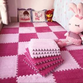 Alfombra puzzle peluche 30 x 30 cm paquete 10 unidades