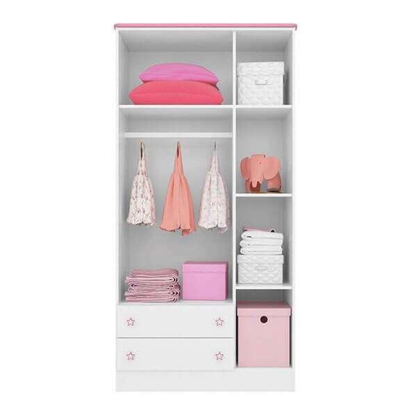 Ropero 3 puertas 2617 qmovi blanco|rosa - 1