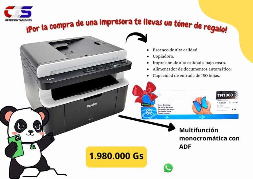 Impresora multifunción Brother DCP11617NW con ADF monocromática - 0