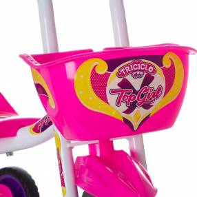 Triciclo top girl ultra bikes blanco|rosa