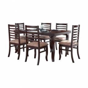 Conjunto anturio 6 sillas acacia salmar imbuia