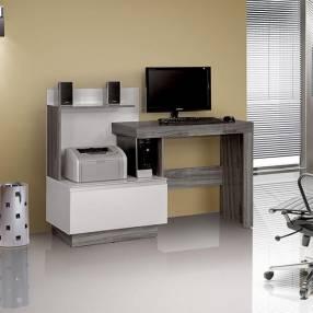 Mesa computadora jade notavel gris|blanco