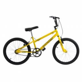 Bicicleta aro 20 horquilla deportiva reforzada ultra bikes amarillo