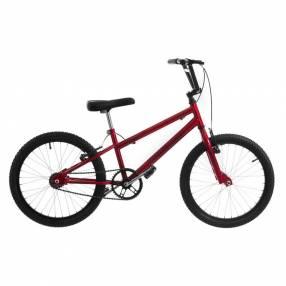 Bicicleta aro 20 horquilla deportiva reforzada ultra bikes rojo