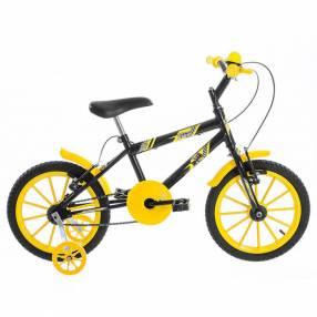 Bicicleta aro 16 kids ultra bikes negro|amarillo