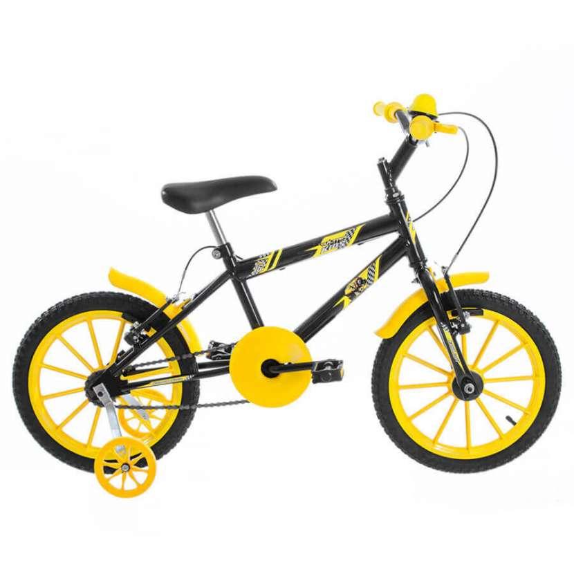Bicicleta aro 16 kids ultra bikes negro|amarillo - 0