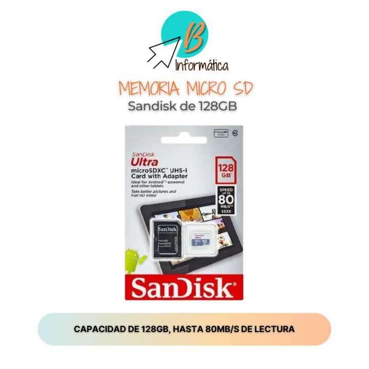 Memoria Micro SD Sandisk 128GB - 0