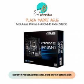 Placa madre ASUS MB Prime H410M-D Intel S1200