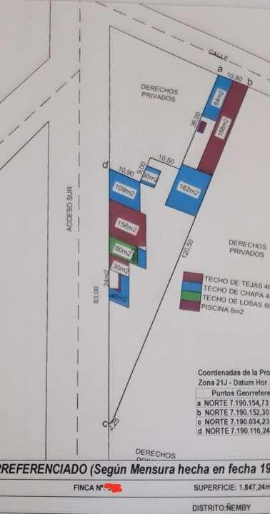 Terreno de 1.848 m2 sobre Acceso Sur Ñemby - 4