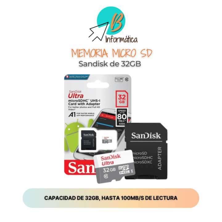 Memoria Micro SD Sandisk 32GB - 0
