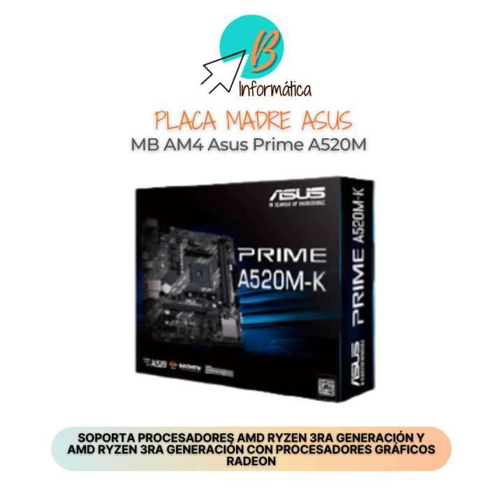 Placa madre ASUS MB AM4 Prime A520M - 0
