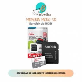 Memoria Micro SD Sandisk 16GB