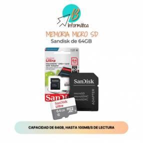 Memoria Micro SD Sandisk 64GB