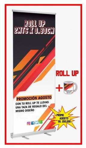 Banner roll up y calcomanías imantados