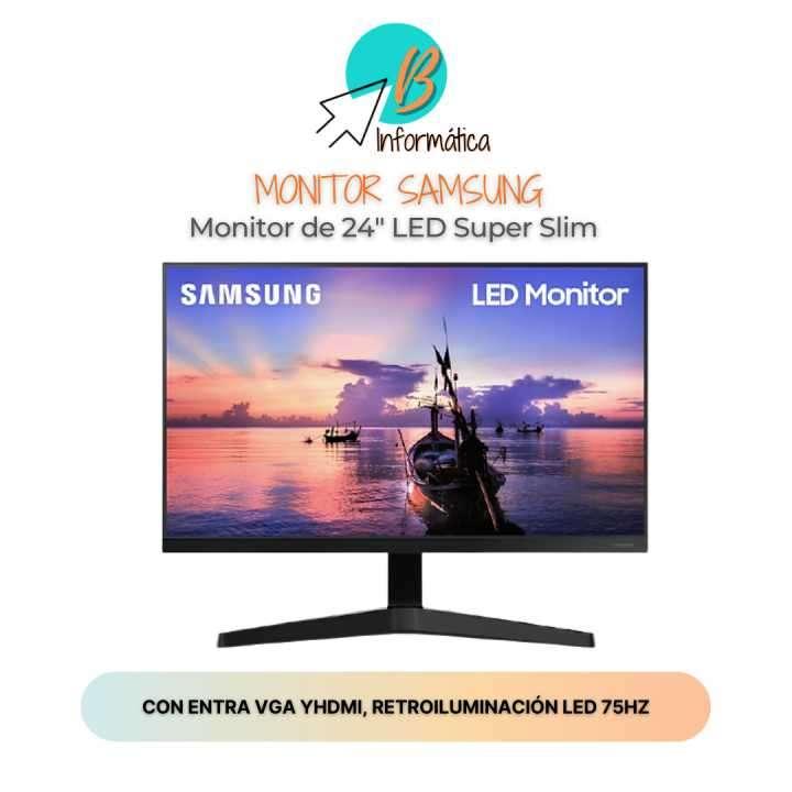 Monitor LED Samsung de 24 pulgadas con VGA y HDMI - 0