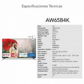 Smart TV Aiwa 4K 65 pulgadas