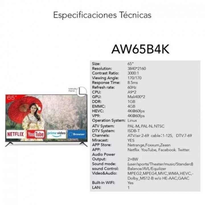 Smart TV Aiwa 4K 65 pulgadas - 0