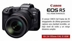 Cámara Canon EOS R5 Kit 24-105mm F/4L IS USM