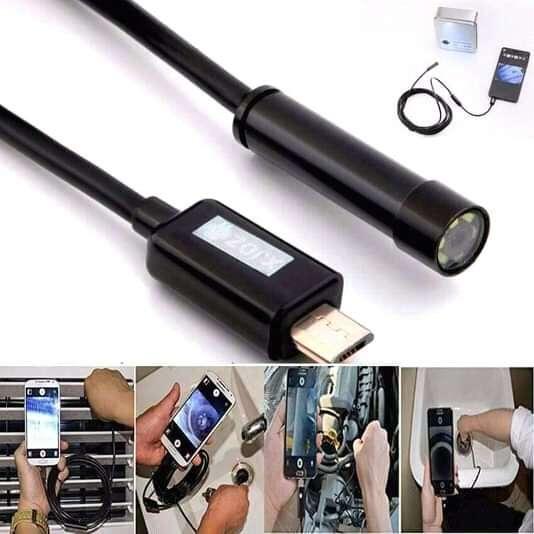 Boroscopio USB para celulares con luz LED - 0