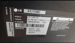 TV LG pantalla rota para repuesto