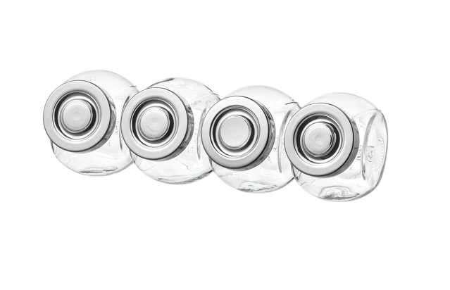 Frasco para especias, vidrio, color aluminio, 4 unidades 2280 - 0