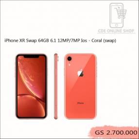 iPhone XR Swap 64gb 6.1 12MP/7MP iOS Coral grado A