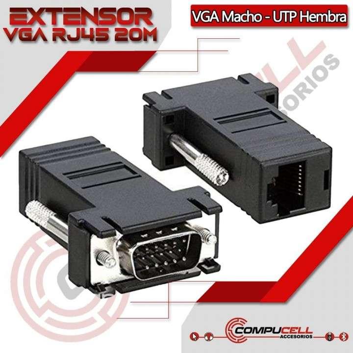 Extensor VGA RJ45 - VGA Macho a RJ45 Hembra - 0