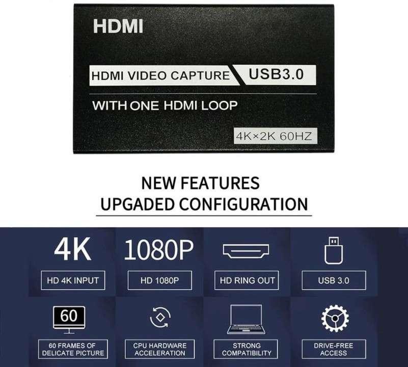 Capturadora de video HD 60Hz para streaming - 4