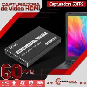 Capturadora de video HD 60Hz para streaming