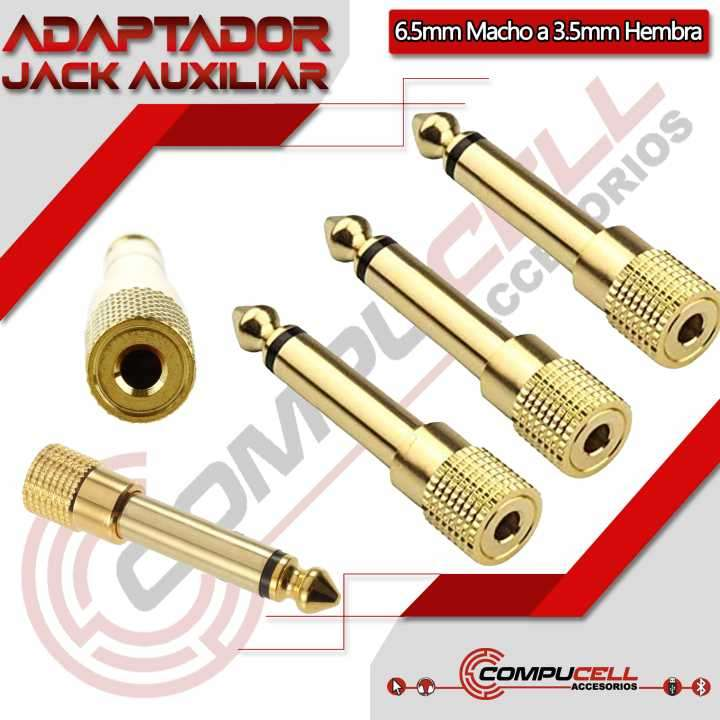 Adaptador Auxiliar 3.5mm a 6.5mm - Convertidor Auxiliar 3.5m - 0