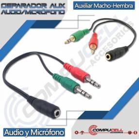 Separador de audio y micrófono - splitter auxiliar