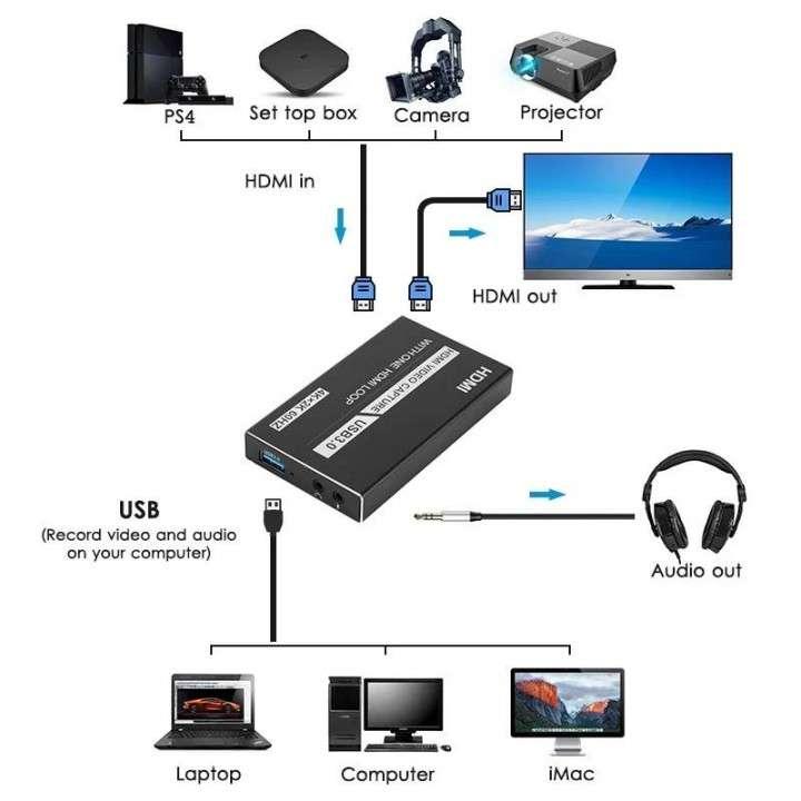 Capturadora de video HD 60Hz para streaming - 2