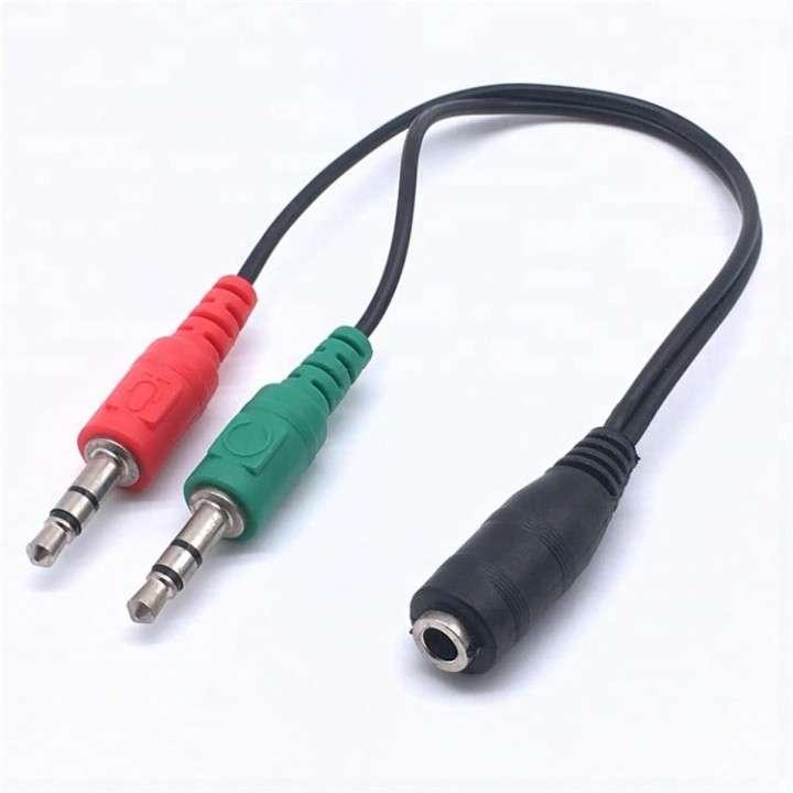 Separador de audio y micrófono - splitter auxiliar - 1