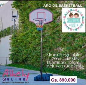 Aro de básquet con altura regulable
