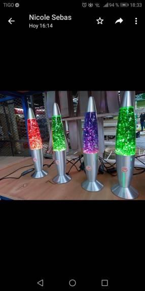 Lámpara LED lava con glitter